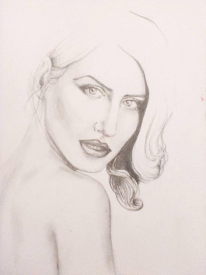 Selah portrét ceruzkou