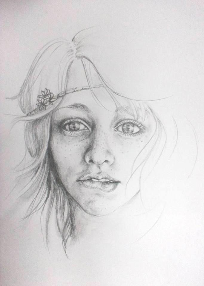 Nina portrét ceruzkou